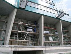 Bau des E/D/E Hochhauses
